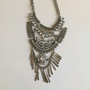 Oversized statement party necklace